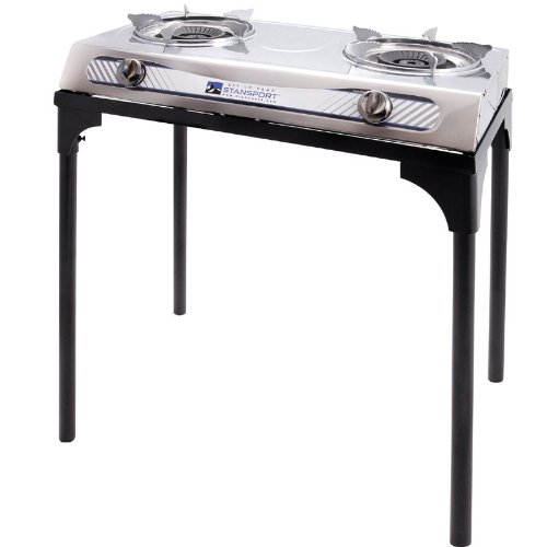 Stansport 2 Burner Stainless Steel Stove with Stand by Stansport