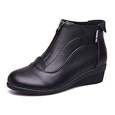 Amazon.com | Women's Winter Ankle Boots Wedge Snow Boots