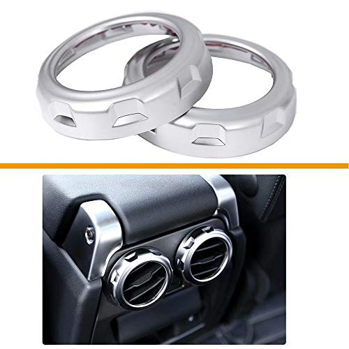 TULIN Plastic Rear Air Outlet Vent Ring Chrome Trim Cover Stickers Car Styling Parts for Discovery 4 2009-2016 for Discovery 3 for Range Rover Sport 2005-2013 ()