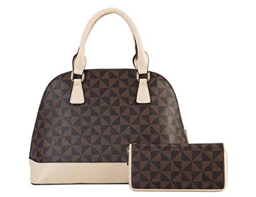 Women Handbags Leather Dome Satchel Handbag Desiner Shoulder Bags With Wallets 2pcs Sets Messenger Purse (TP)