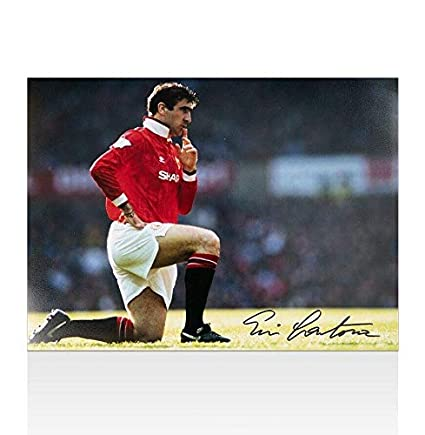 f9dacc0abc7 Eric Cantona Autographed Photo - Knee Down Celebration Black Pen -  Autographed Soccer Photos at Amazon s Sports Collectibles Store