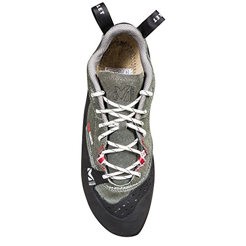 31 Cliffhanger Nero Pantofole Pelle Carbone Rosso Pizzo In Miglio Descalade 5 Formato Misto Iqa17wZwvx