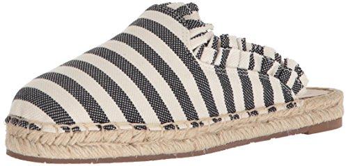Cream Women's Canvas Laila york Black kate Striped spade Mule new wCqB0P