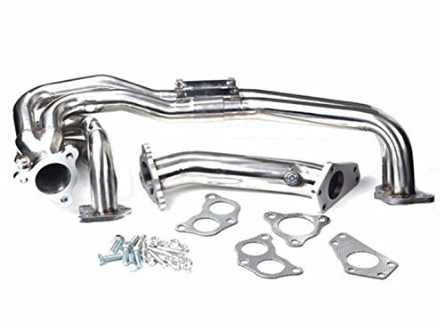 Mophorn Exhaust Manifold Stainless Steel Exhaust Headers T
