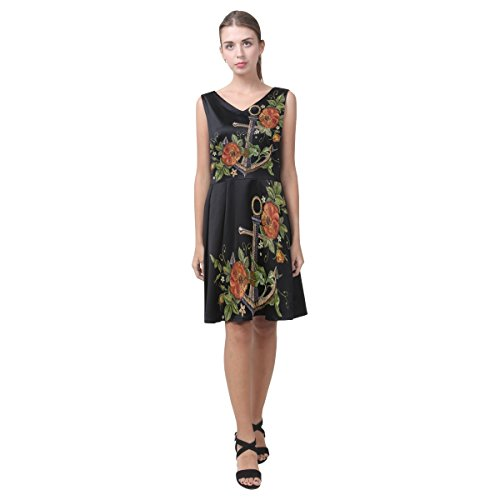 Pleated Skull With Dress Dress Sleeveless Sundress Multi11 Floral Women Women D Story tOqw0n1