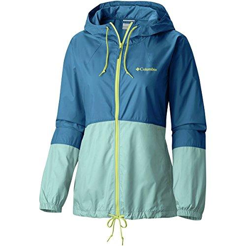 Columbia Women's Flash Forward Windbreaker Jacket, Dark Cyan, Wind, L