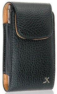 Napa Leather Flip Case (Black Vertical Napa Leather Case Pouch For Casio GzOne)