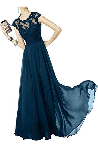 Langes Dunkel Partykleider Bodenlang Marie Blau La Jugendweihe Ballkleider Linie Braut A Kleider Abendkleider Spitze qpxxEw7CF
