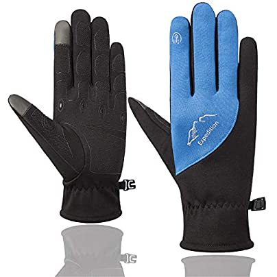 Full finger bicycle gloves Fashion Winter Windproof Snowboard Snow Warm Touch Screen Cold Weather Ladies Men s Gloves Wristband Outdoor Sports Travel Snowmobile Golves Non-slip shockproof riding glove Estimated Price -