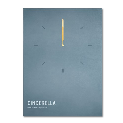 Cinderella  by Christian Jackson, 16 by 24-Inch Canvas Wall Art Art Com Canvas Clock