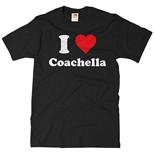 ShirtScope Adult I Heart Coachella T-shirt - I Love Coachella Tee XL Black