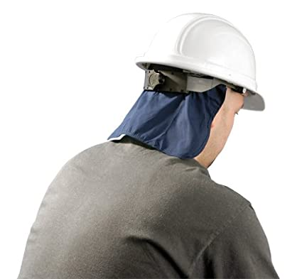 8848ed523ed Image Unavailable. Image not available for. Color  Hard Hat Cooling Pad  Deluxe with Neck Shade - Navy Miracool