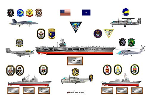 - USS John C. Stennis CVN 74 Carrier Strike Group of 2007, displaying Images of All Ship and Aircraft Units That Made up This Group