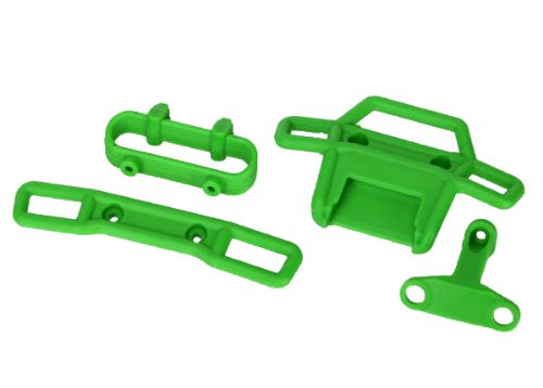 Traxxas 7236A Green Bumpers and Supports, 1/16 Scale Vehicle