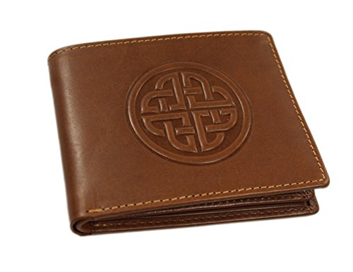 (Biddy Murphy Irish Leather Wallet Celtic Knot Brown Made in Ireland)