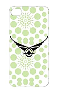 Black Wings Miscellaneous Symbols Shapes Wings TPU For Iphone 5 Protective Case