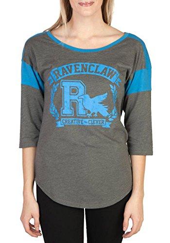 HARRY POTTER Ravenclaw Raglan Athletic Tee Shirt S -