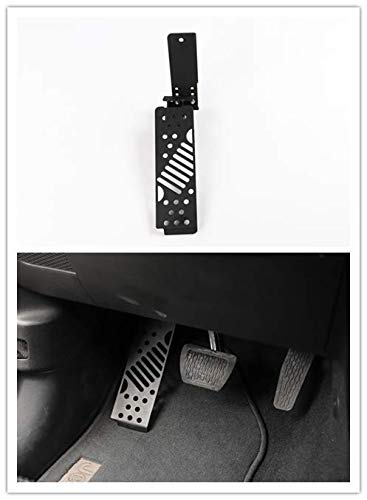 Highitem Aluminum Alloy Dead Pedal Pads Left Side Foot Rest Kick Panel for Jeep Wrangler JL 2018 Up