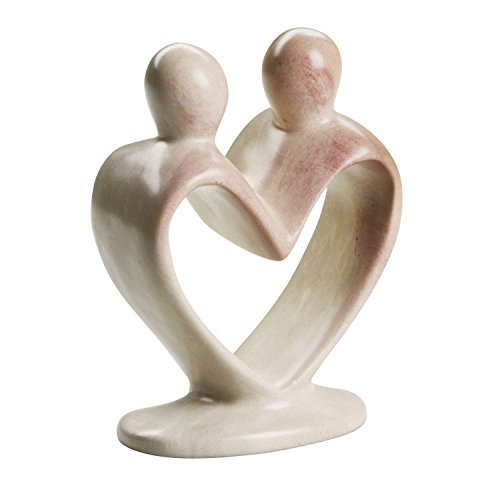 Ten Thousand Villages Kisii Stone Sculpture 'Dance Through Life Couple'