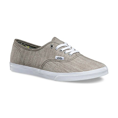 Vans Authentieke Lo Pro Heren Grijs Canvas Lace Up Sneakers Sneakers Sneakers 8.5
