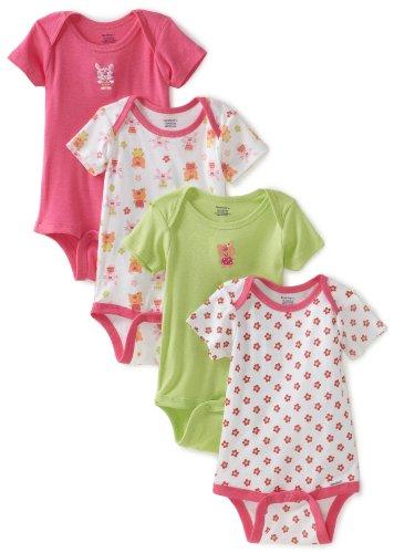 Gerber Baby Girls' 4 Pack Variety Bunny Onesies Brand