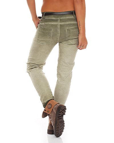 Esercito Chinos Ladies Boyfriend 10912 Zarmexx Stretch Jeans Baggy Pants stampa Jeggings Letter fantasy 7Znw6