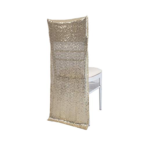 Special Bridal 4 Pieces Sequins Chair Cover for Wedding/Party/Decor/Decoration Shiny Banquet Chair Sash