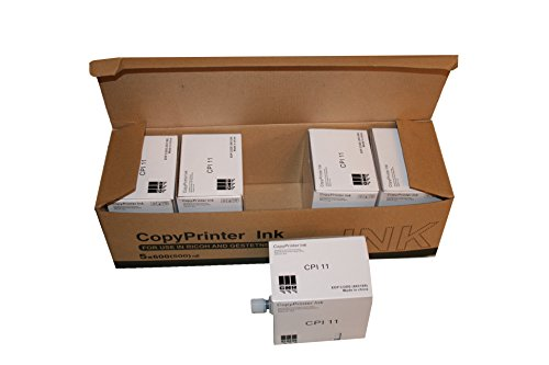5 Compatible HQ40 Black Duplicator Ink Cartridges, Compatible with Ricoh HQ-40 RICHQ40C