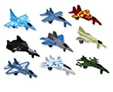 Metal die cast toy air plane set of military planes and jets. Pack of 9.