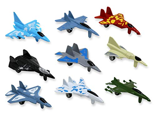 - Metal die cast toy air plane set of military planes and jets. Pack of 9.