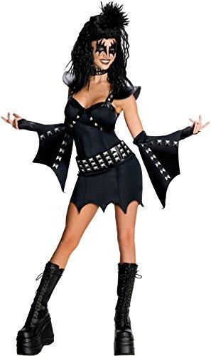 Secret Wishes KISS Sexy The Demon Costume, Black, Small (Sexy Demon Costume)