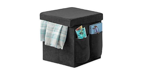 Incredible Amazon Com Sit Store Folding Storage Ottoman Black Machost Co Dining Chair Design Ideas Machostcouk