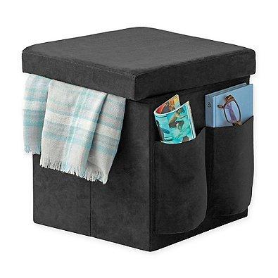 Cool Amazon Com Sit Store Folding Storage Ottoman Black Machost Co Dining Chair Design Ideas Machostcouk