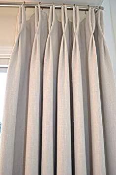 Ikiriska Add Double Pinch Pleat top to Any of Our Custom Made Curtains Add Pinch Pleat top for 1 Panel, Custom 100 Wide