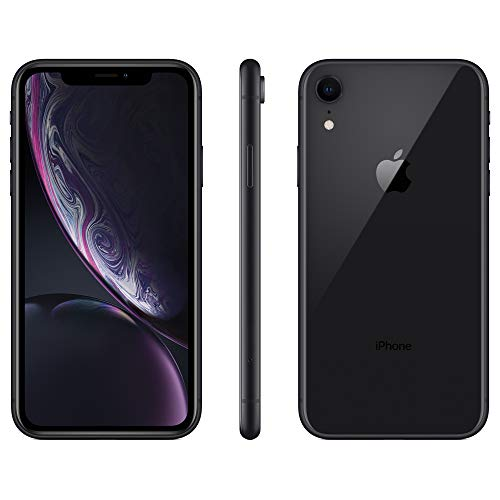 Apple iPhone XR, US Version, 64GB, Black – Unlocked (Renewed)