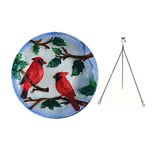 Songbird Essentials Perching Cardinals Hanging - Cardinal Birdbath