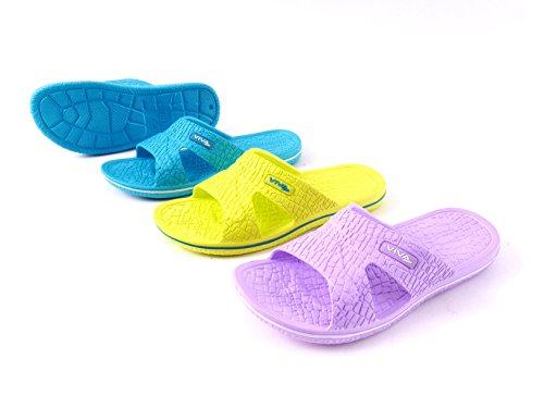 Damen Badeschuh Badeschlappen Badelatschen Strandschuhe - Farbe: Türkis - Größe: 36