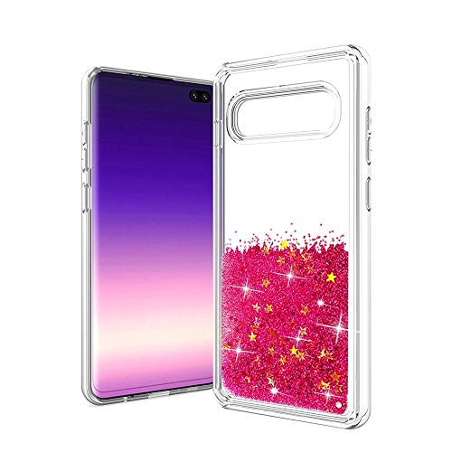 - Case for Samsung Galaxy S10E,Quicksand Dynamic Floating Liquid Glitter Waterfall Sparkle Moving Stars Case for Samsung Galaxy S10E 2019 (5.8 inch)(Star Rose)
