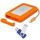 LaCie Rugged Thunderbolt USB 3.0 2TB External Hard Drive - Flash Transfer Kit