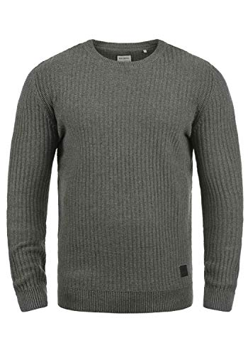Grosse Pour Mabu over Avec Dark 100 Encolure Melange Rond Maille Grey Pull Tricot En Homme Shine Pull Original Coton qAwz1IA