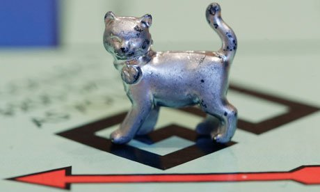 2013 Monopoly Game - Monopoly Classic Cat Token (Metal) (Piece/Mover) by Hasbro
