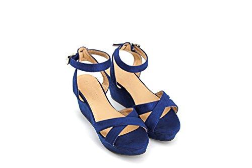 MODELISA Women's Fashion Sandals Blue sqPTVwT8UK