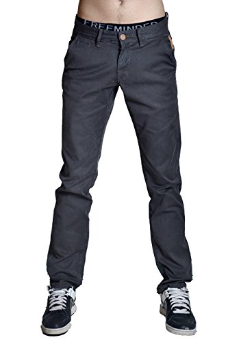 Pantalón chino para hombre corte recto NO EXCESS fin de colección gris