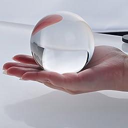 New Clear Crystal Ball Sphere Asian Quartz 80mm (3\