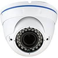 GW Security 2.1 Megapixel HD 1080P AHD Weatherproof Dome Surveillance Camera with 2.8-12mm Varifocal Zoom Len (Only Compatible with HD-AHD DVR)