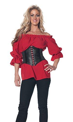 Underwraps Women's 3/4 Sleeve Renaissance Costume Blouse]()