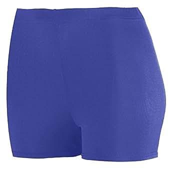 """Ladies Poly/Spandex 2.5"""" Short - Purple - Small"""
