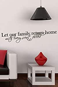 Walliv Decals Let Our Family Return Home With Every Seat Filled Quote Wall Sticker Decal Wall Quotes [wq0878]