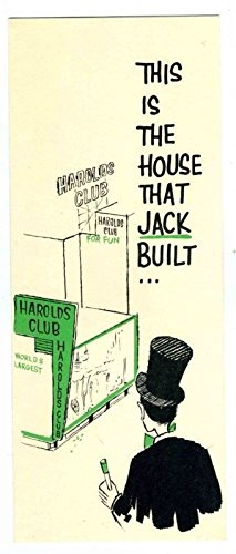 (Harold's Club Casino Greeting Card Reno Nevada 1959 House That Jack Built)