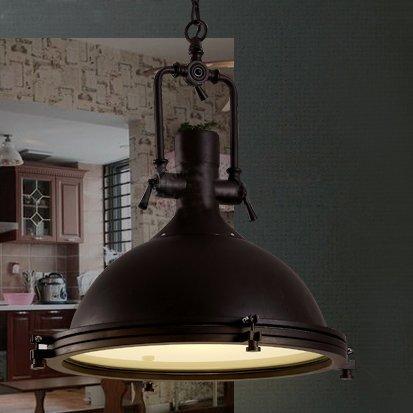 Industrial-Nautical-Style-Single-Pendant-LITFAD-18-Dome-Shape-Pendant-Light-Mounted-Fixture-Lighting-in-Rusty